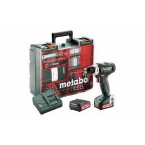 Drill driver PowerMaxx BS 12 Mobile Workshop,63pcs/2x2,0Ah, Metabo