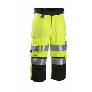 Hi.Vis. trousers 3/4  6014 black/yellow XL, Dimex