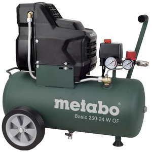 Kompresors Basic 250-24 W OF, bez eļļas, Metabo