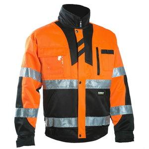 Kõrgnähtav jakk 6019, oranž/must 2XL