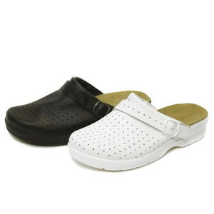 Darba sandales ar atvērtu papēdi, melnas, 38