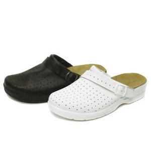 Darba sandales ar atvērtu papēdi, melnas, 39