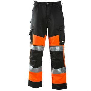 Kõrgnähtavad püksid 6020, oranž/must 52, Dimex