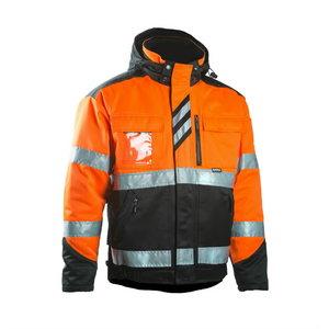 Žieminė striukė, didelio matomumo Dimex 6021 oranžinė/juoda, DIMEX