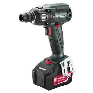 Cordless impact wrench SSW 18 LTX 400 BL / 2x5,2 Ah, Metabo
