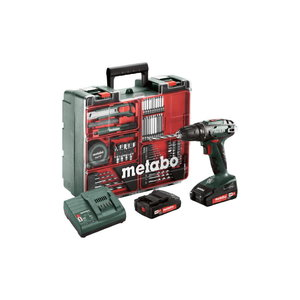 Cordless drill BS 18 - Mobile Workshop 74 accessories, Metabo
