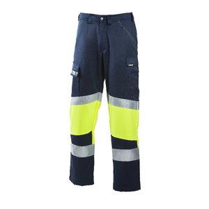 Tööpüksid 6032 kõrgnähtav CL1, sinine/kollane, Dimex