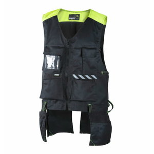 Vest with pockets,  6043 black/yellow L, Dimex