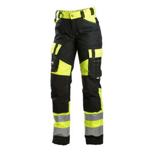 Kõrgnähtavad tööpüksid Dimex 6046 must/kollane, naistele 34