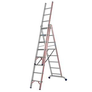 Combination ladder 3x7 steps 2,15/4,95m 6047, Hymer