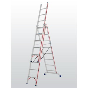 Combination ladder 3x10 steps 3,02/7,22m 6047, Hymer