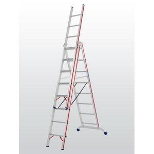 Combination ladder 3x10 steps 3,02/7,22m 6047, Hymer