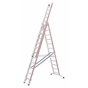 Trīsdaļīgas universālās kāpnes, 3x12 pakāpieni 3,63/8,66m 60