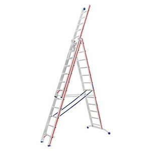 Combination ladder, three-section 3x12 3,63/8,66m 6047, Hymer