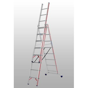 Combination ladder 3x14 steps 4,17/9,78m 6047, Hymer