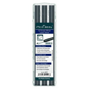 Marking pen core, graphite, black, 12pcs, Pica