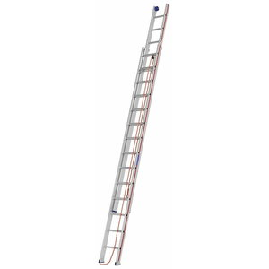 Rope-operated extension ladder, 2x14 steps. 4,18/7,26m 6051, Hymer