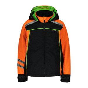 Children's shell jacket 6056,orange/black/green 150, , Dimex
