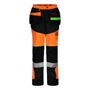 Children's pants with hanging pockets 6057,orange/black, Dimex