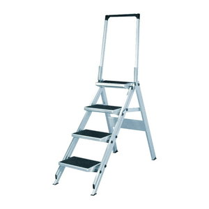 Safety step with handrail 4 steps 6061, Hymer