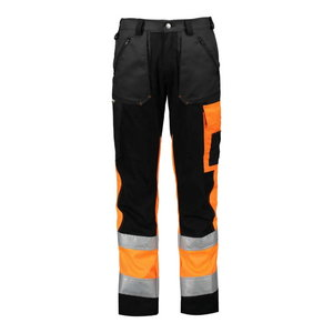 Trousers  Superstrech, 6063 HV orange/black/dark grey 4 48, Dimex