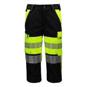 Tööpüksid 3/4 6069 Superstrets, kõrgnähtav CL1 kollane/must