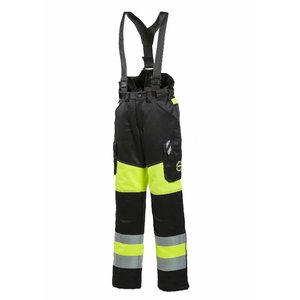 Sieviešu ziemas darba bikses 6072, neona dzeltenas/melnas L, Dimex