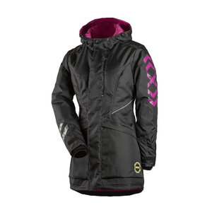 Žieminė striukė 6079 moteriška, juoda/rožinė L, Dimex
