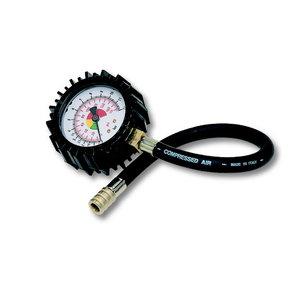 Tyre pressure tester  0-12bars lenght pipe 30cm, GAV