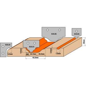 Profiiltera (PROFILE C1) 35X25X2 HM, CMT