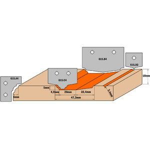 HW KNIFE (PROFILE C4) 35X25X2, CMT