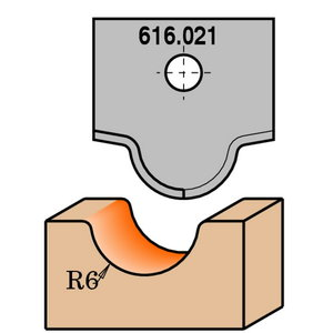 PROFILED KNIFE FOR MDF   RH   (ROUTER BIT 616.200), CMT