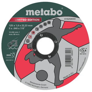 "Cutting wheels ""Limited Edition"" Inox 125x1,0mm, Metabo"
