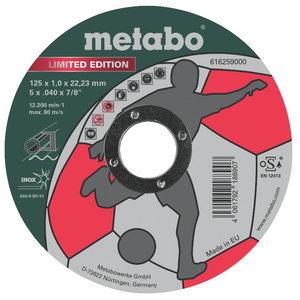 """Режущий диск 125x1mm """"Limited Edition"""" Inox, METABO"""