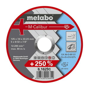 Šlifavimo diskas 125x7,0mm Ceramic M-Calibur, Metabo