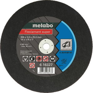 Diskas pjovimui 350x3,0x25,4 mm / A30-R. CS 23-355, Metabo