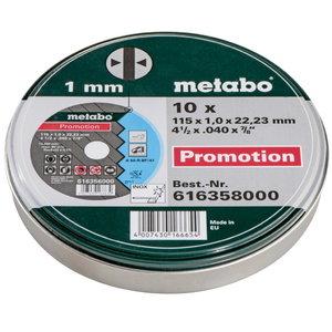 INOX lõikekettad 115x1,0x22 mm, A60R. Metallkarbis 10tk, Metabo