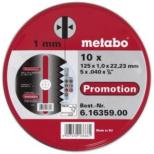 INOX cutting discs 125x1,0x22 mm, A60R, 10 pcs, Metabo
