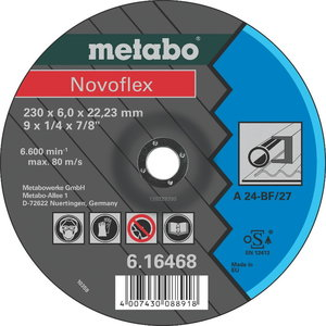 Grinding disc 125x6mm A24 Novoflex, Metabo