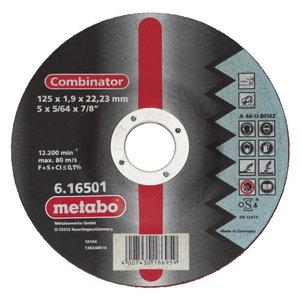 Режущий-шлифовальный диск по металлу 125x1,9x22 Combinator, METABO