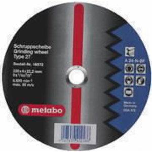 Metalo šlifavimo diskas 150x6x22 A 24-N, Metabo