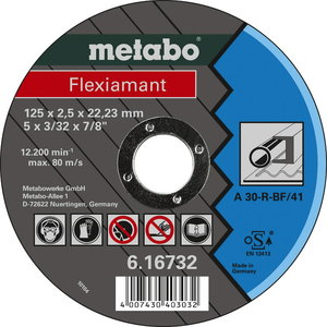 Cut-off wheel 125x2,5x22,2, Metabo