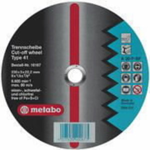 Slīpdisks nerūsējošam tēraudam 125x6x22 A36O, Metabo