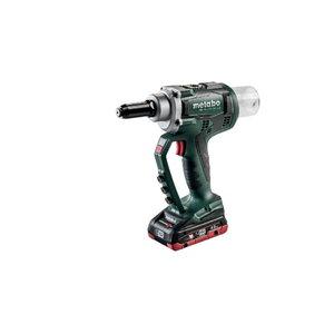 Cordless blind rivet gun NP 18 LTX BL 5.0 / 2x4,0 Ah LiHD, Metabo