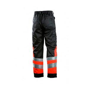 Darbinės kelnės  620 neono raudona/juoda 46, Dimex