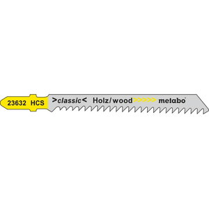 5 Jig saw blades 74 mm / 3,0, Metabo