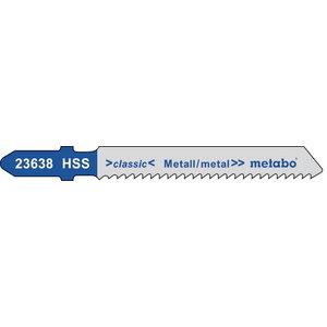 полотно для лобзиковой пилы, металл 2,0/50 HSS 5шт., METABO