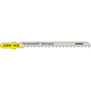 5 Jig saw blades 74 mm / 4, Metabo