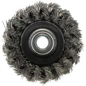 Kausshari - punutud 80mm, M14, teras 0,8mm, Metabo