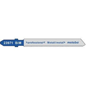 полотно для лобзиковой пилы, металл BiM 1,2/57мм 5шт., METABO